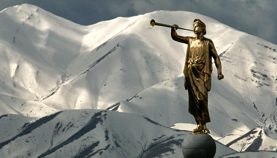 Statue des Engel Moroni