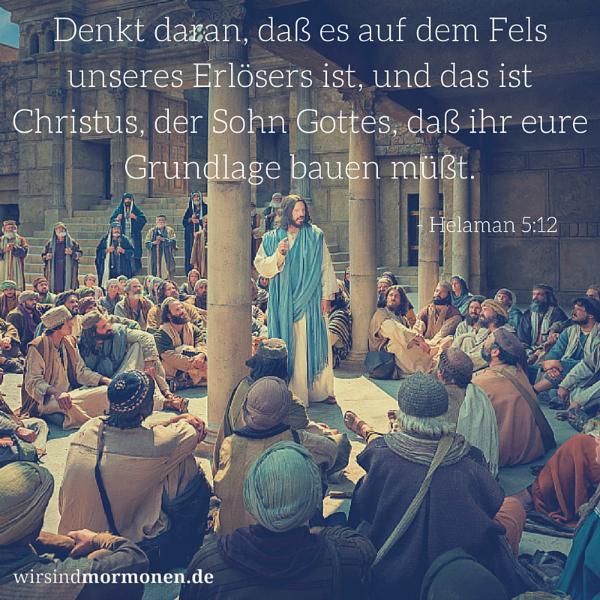Christus – der Fels, auf den wir bauen