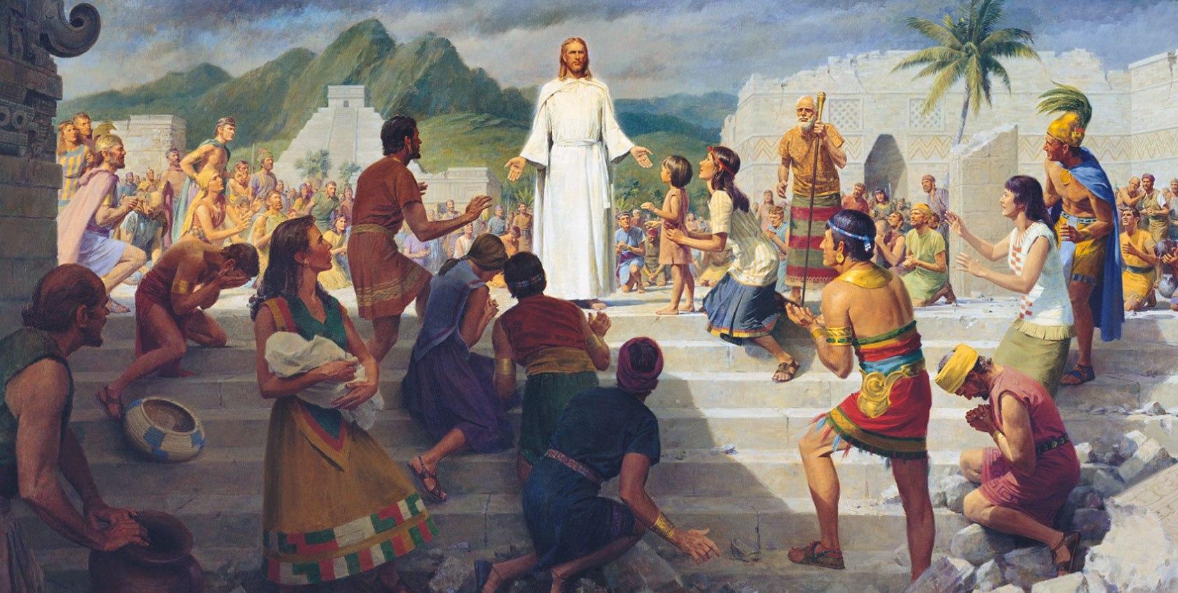 Jesus nach seiner Auferstehung in Amerika