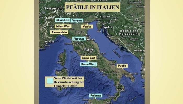 Pfähle in Italien