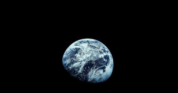 Die Erde aus dem All fotografiert.