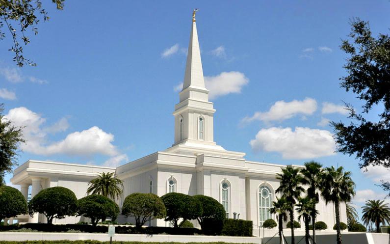 Ein Tempel der Mormonen in Orlando, Florida.