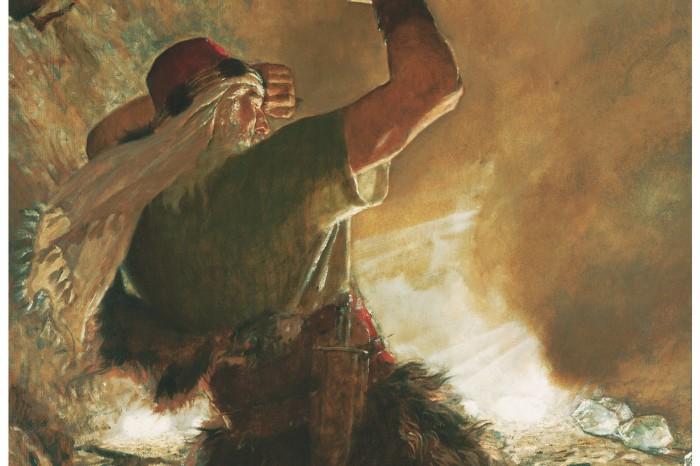 Ein Bild von Jareds Bruder, der dem Beispiel Noachs folgte. Jareds Bruder ist ein Prophet im Buch Mormon. Seine Geschichte ist zu finden im Buch Ether.