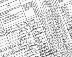 Hier ist eine originale Namensliste angezeigt, die es beim Indexieren zu bearbeiten gilt.