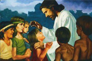 Jesus Christus zeigt sich nach seiner Auferstehung den Nephiten in Amerika und belehrt sie