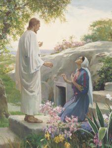 Jesus zeigt sich Maria nach seiner Auferstehung