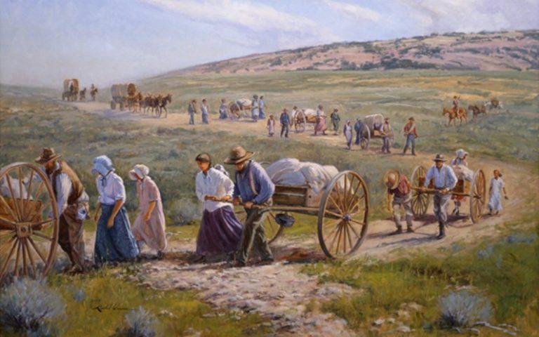 Die Mormonenpioniere auf dem Weg ins Salzseetal