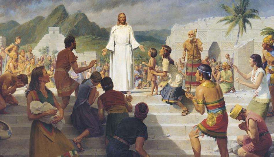Jesus erscheint der Nephiten