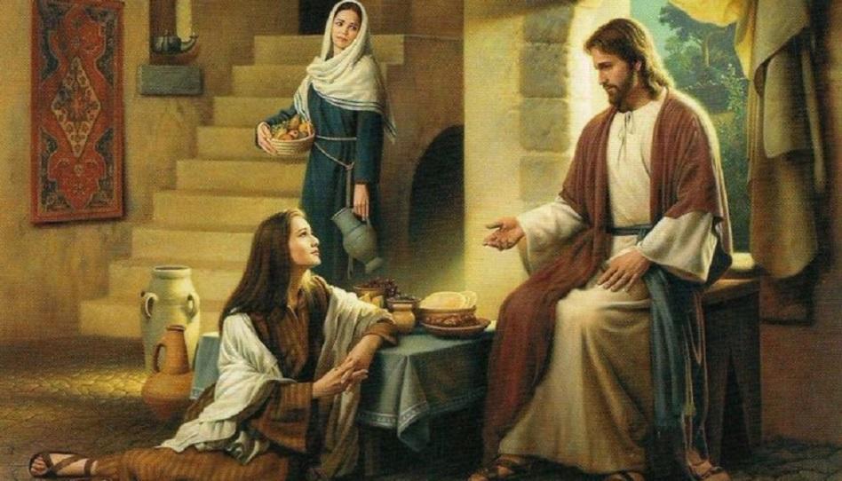 Jesus und Maria und Martha
