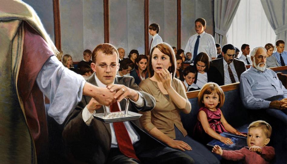 Wenn wir uns in der Kirche unwohl fühlen, dann konzentrieren wir uns auf das Wesentliche: das Abendmahl.