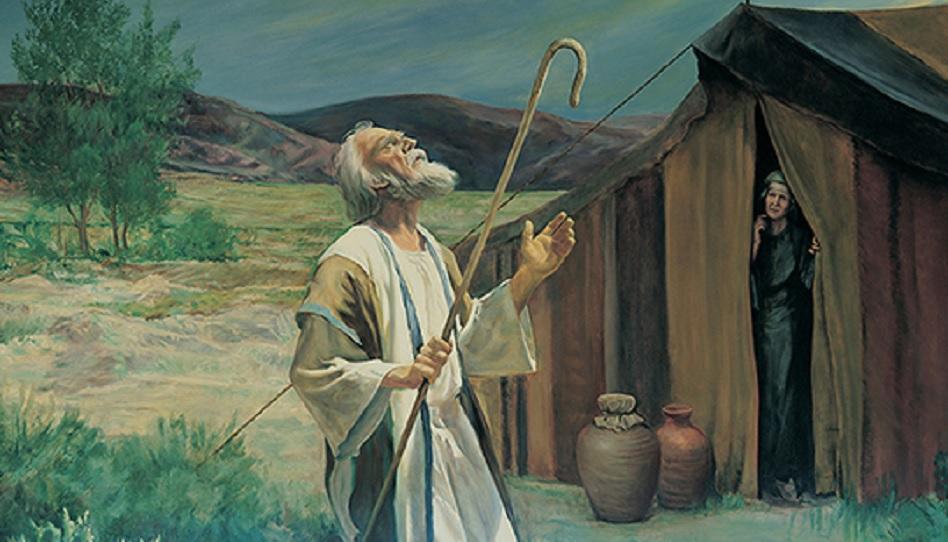 Abraham betet zu Gott