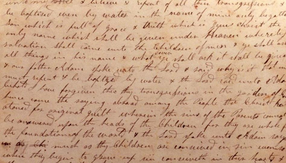 Buch Mormon Manuskript