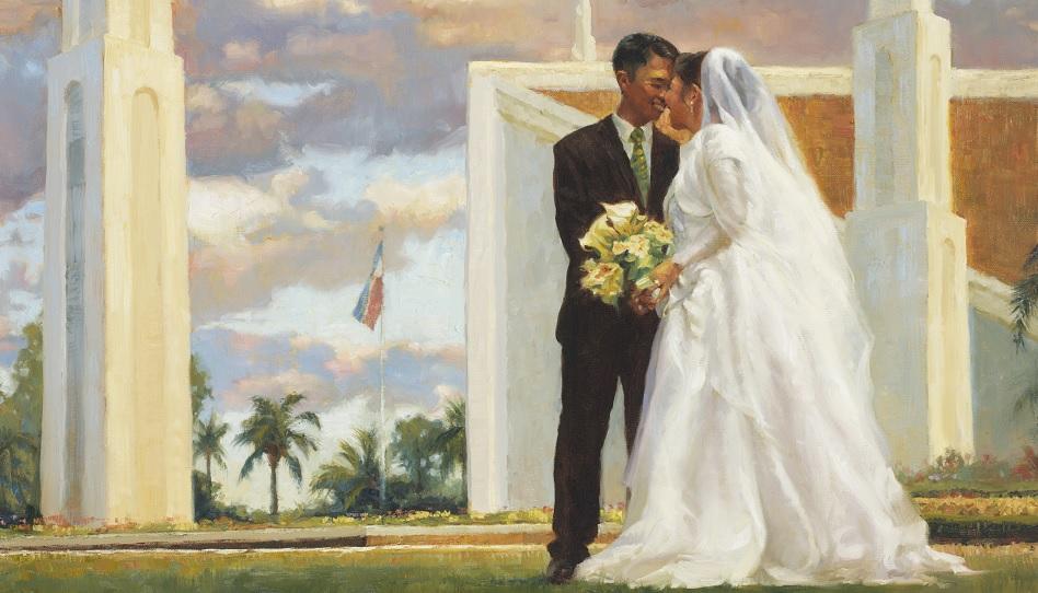 Gemälde Tempel Heirat
