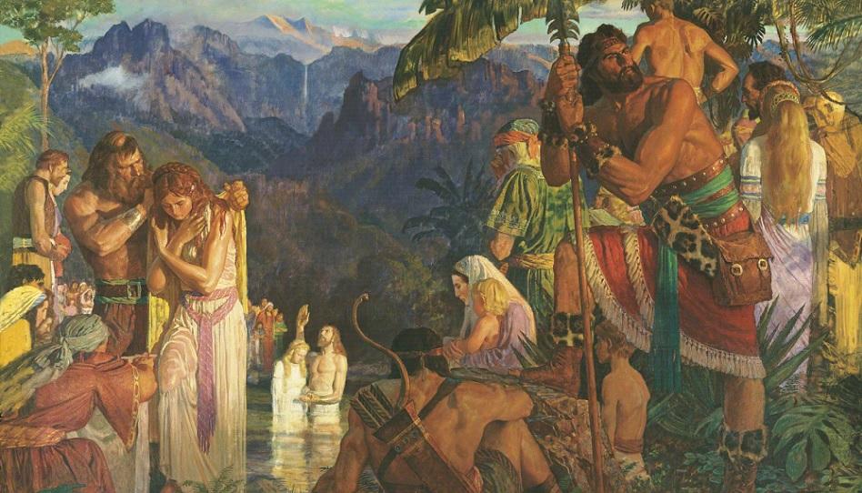 Alma tauft bei den Wassern Mormon