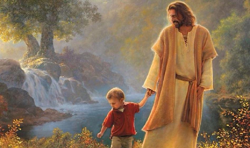 Jesus hält dich an der Hand