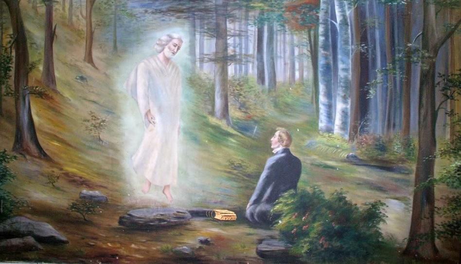 Gemälde von Moroni und Joseph Smith