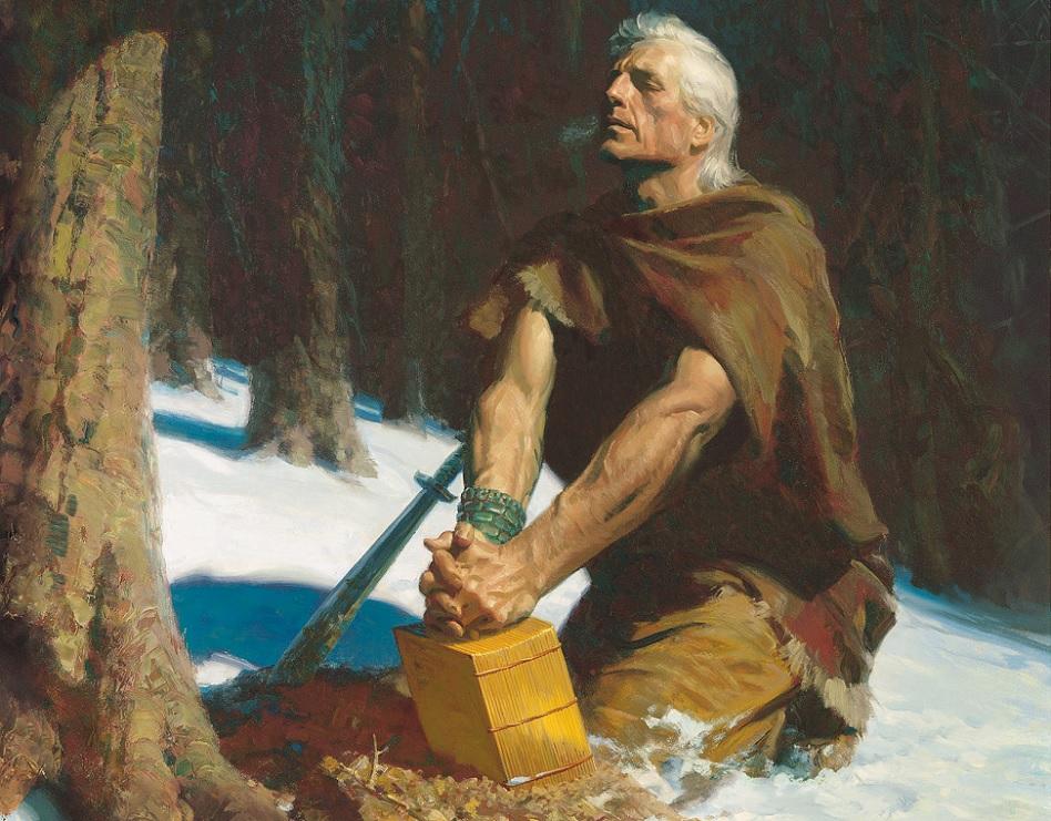 Der Prophet Moroni war einen Großteils seines Lebens allein.