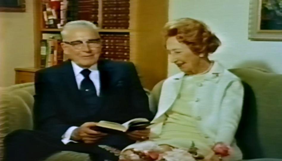 Präsident Harold B. Lee und seine Frau