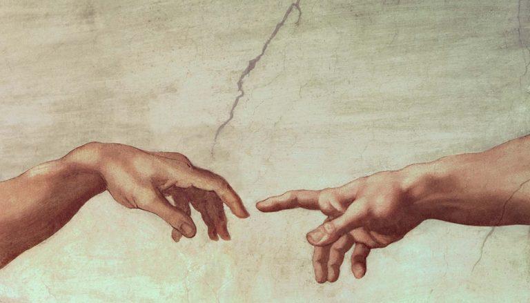 Die Hand Gottes ist da.