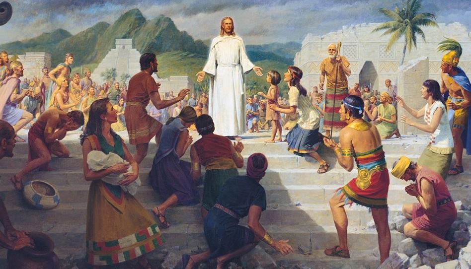 Das Buch Mormon berichtet von Jesus in Amerika.