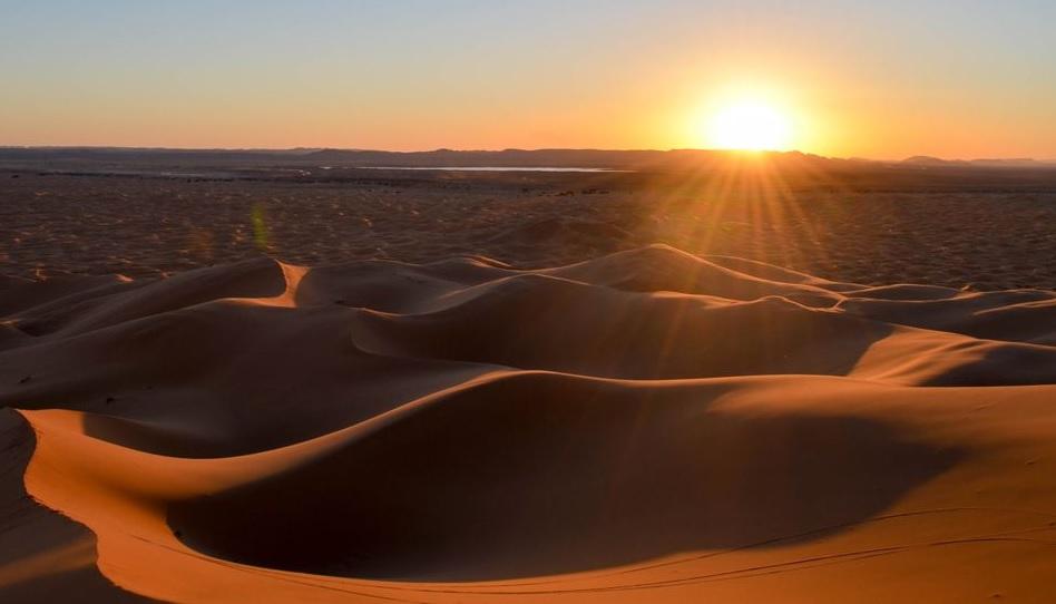 Glücklichsein auch in der Wüste des Lebens.