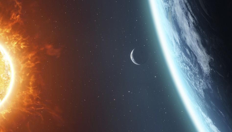 Die Herrlichkeiten der Sonne, der Erde und des Mondes.