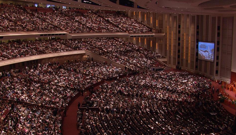 Volles Haus - die Konferenz der Mormonen ist restlos ausverkauft