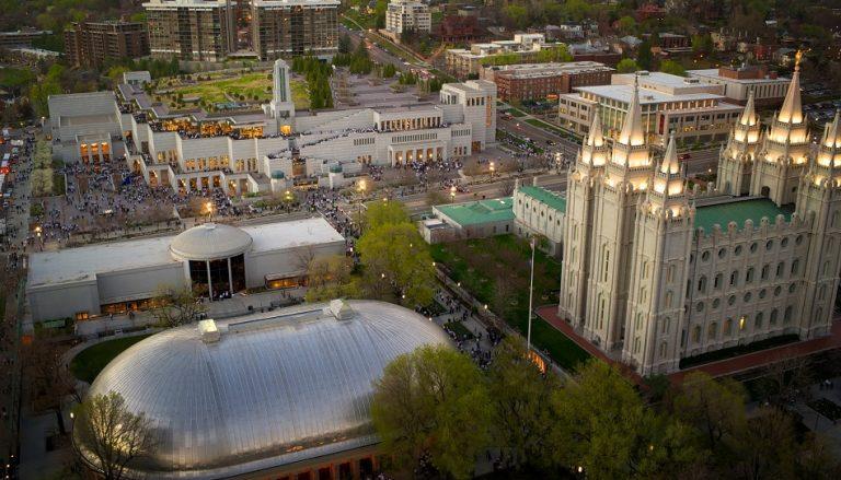 Generalkonferenz Kirche Jesu Christi der Heiligen der Letzten Tage Temple Square Mormonen