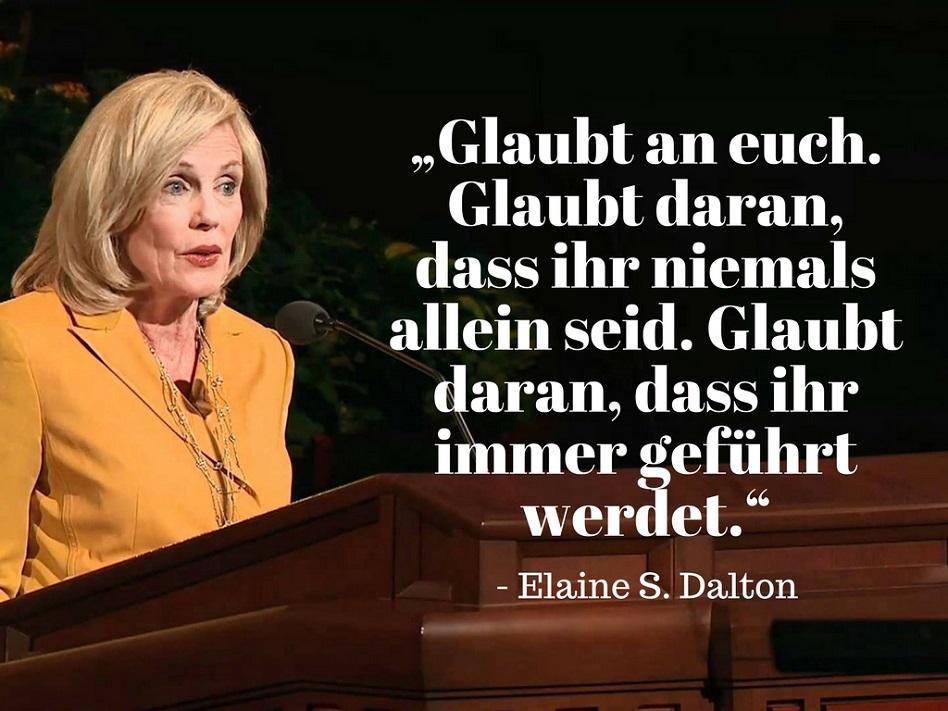 Elaine S. Dalton niemals allein