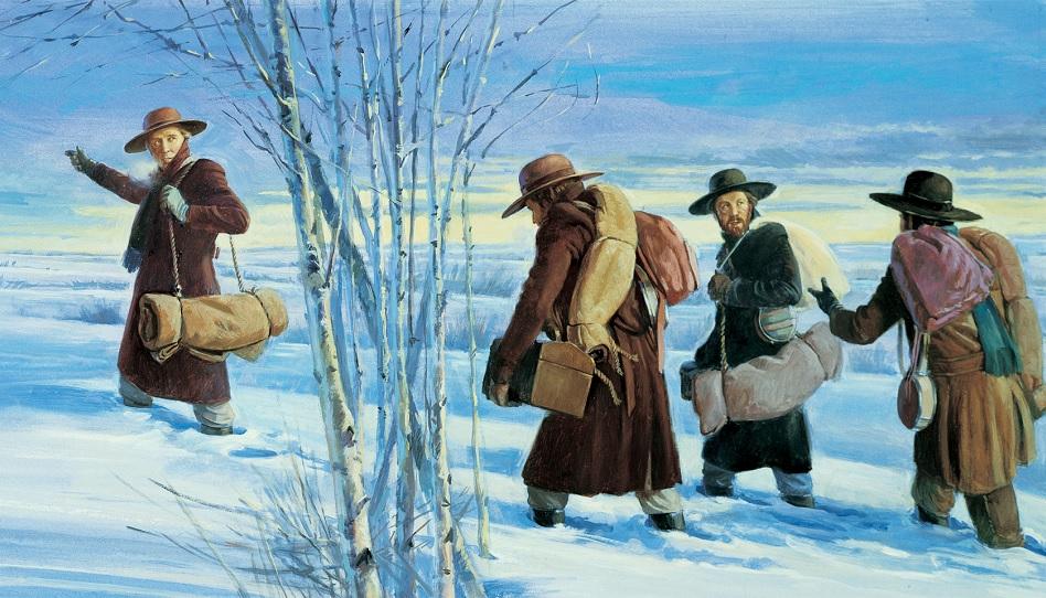Frühe Missionare der Kirche Jesu Christi der Heiligen der Letzten Tage brechen auf eine Reise zu den Lamaniten auf.