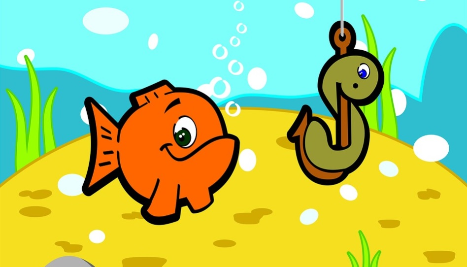 Fisch und Haken Sucht