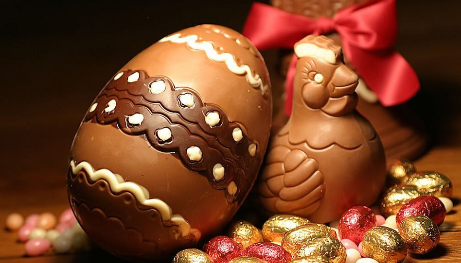 Ostereier in Italien sind häufig aus Schokolade.