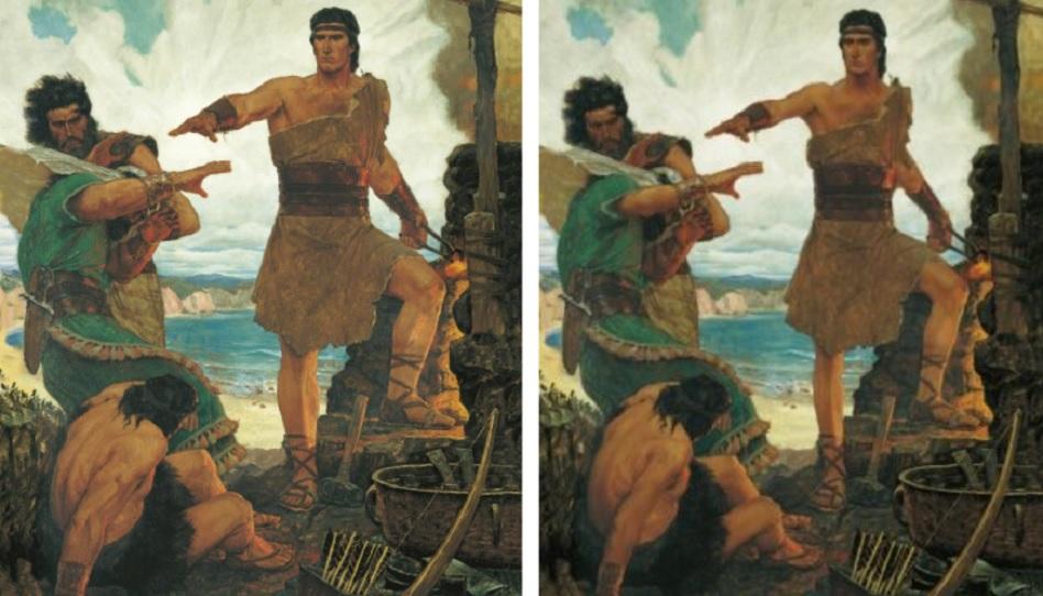 Buch Mormon Helden Nephi und seine Brüder