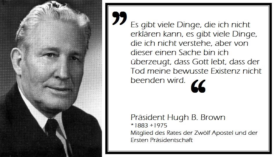 Hugh B Brown Zitat Zweifel