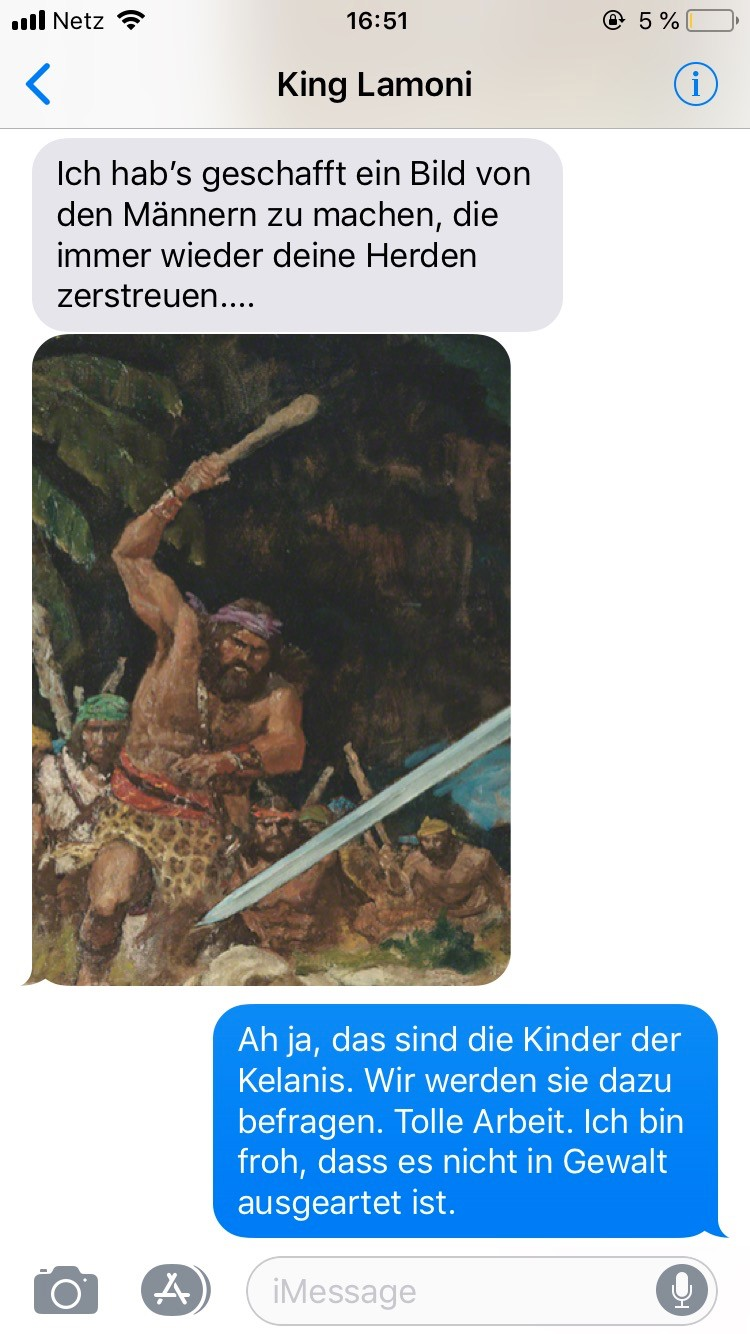 Lamoni Ammon SMS Buch Mormon