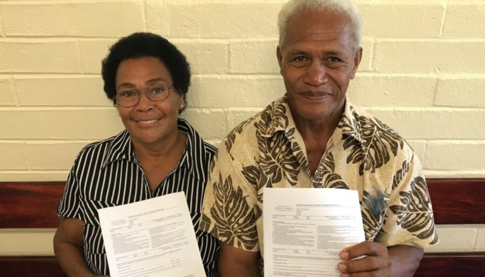 Pazifik Ehepaar Familie Glaube