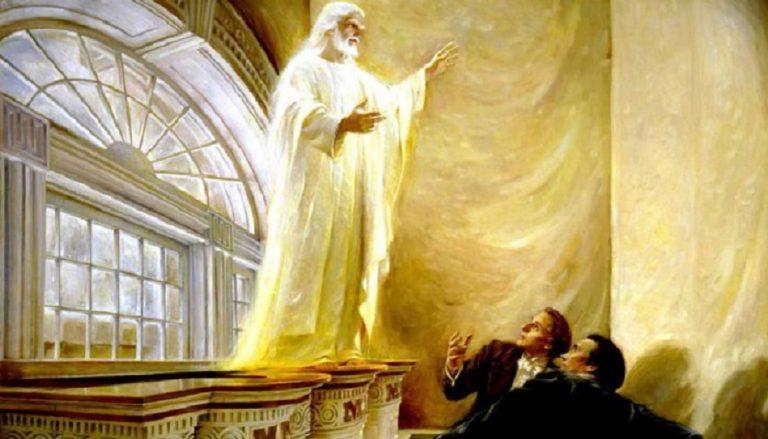 Joseph Smith und Oliver Cowdery haben im Kirtland Tempel Jesus Christus gesehen.