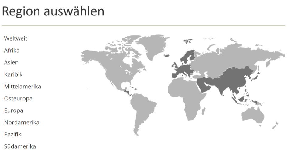 Zu sehen ist eine Weltkarte. Menschen in aller Welt verfolgen die Generalkonferenzen der Kirche Jesu Christi.