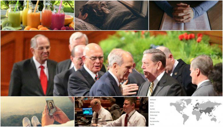Zu sehen ist eine Collage der Bilder dieses Artikels zur Generalkonferenz.