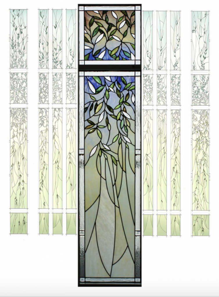 Zu sehen ist die Glasmalerei eines Fensters des Rom-Tempels der Kirche Jesu Christi.