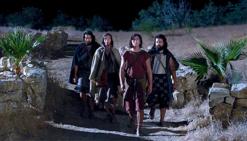 Nephi, Sam, Laman und Lemuel (Sam Petersen), mit freundlicher Genehmigung der Kirche Jesu Christi der Heiligen der Letzten Tage.