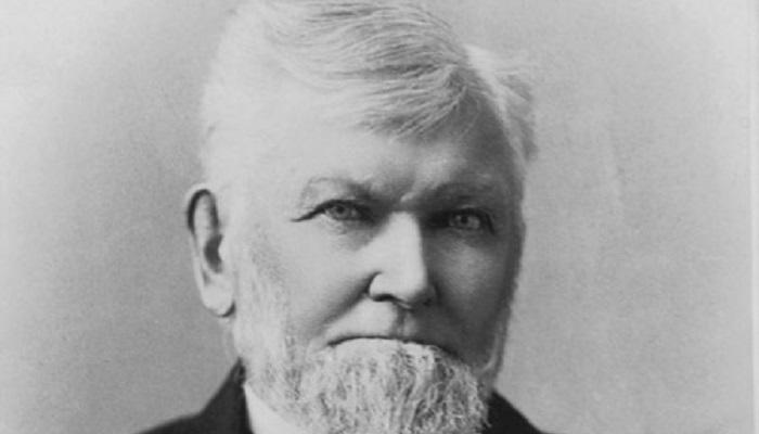 Zu sehen ist Wilford Woodruff, der vierte Präsident der Kirche Jesu Christi der Heiligen der Letzten Tage.